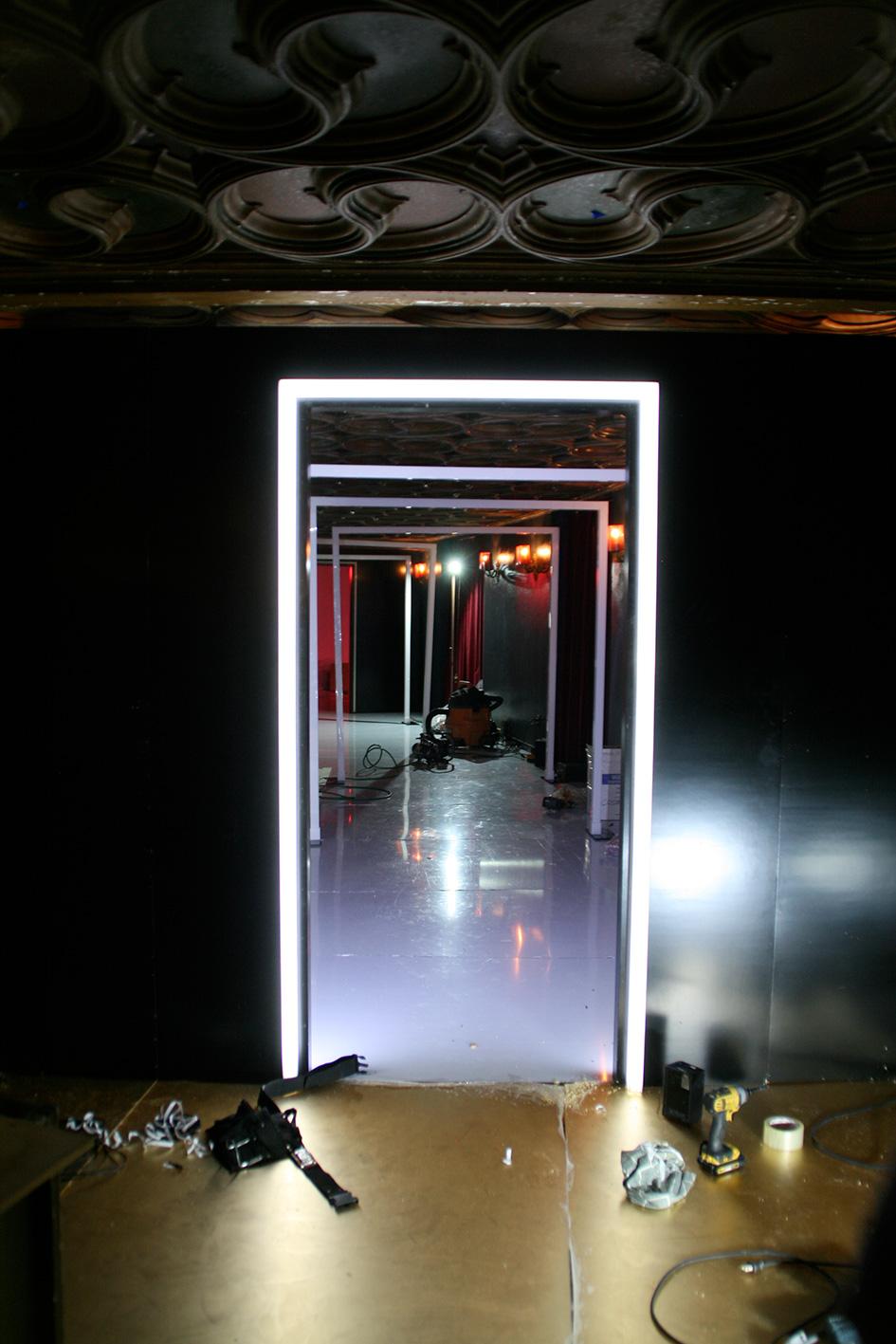 neon arch installation