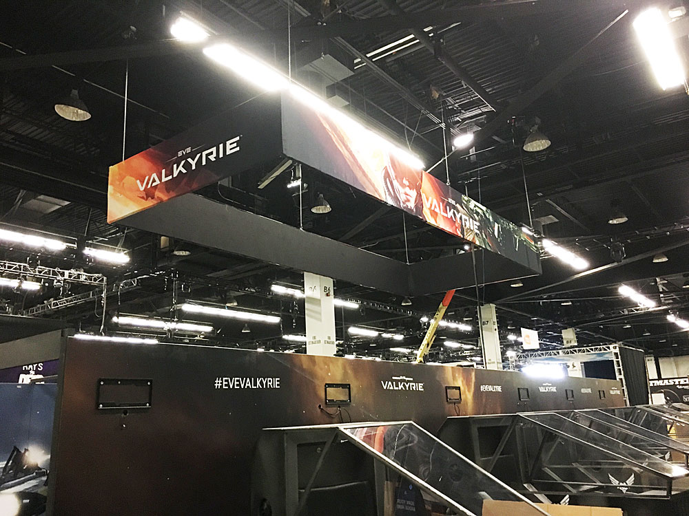 Custom Trade Show Hanging Sign created for Playstation Experience