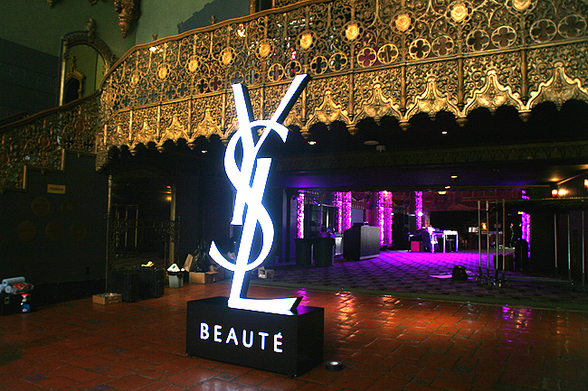 YSL Custom Backlit Sign