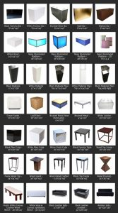Trade show furniture collection
