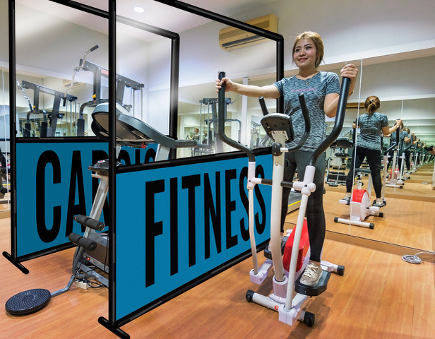 Plexiglass Dividers for Gyms